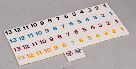 Rummy Tiles, Rummy Set, Classic Rummy Game Set
