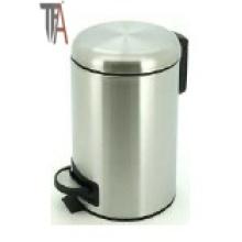 Круглая мусорная корзина с мягкими закрывающимися стальными корзинами
