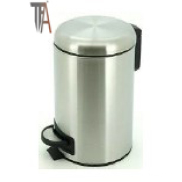 Round Step Trash Can with Soft-Close -Stainless Steel Baskets