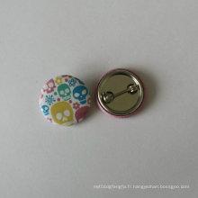 Étiquette colorée en étain Badge Impression ronde Pendule (HY-MKT-0018)