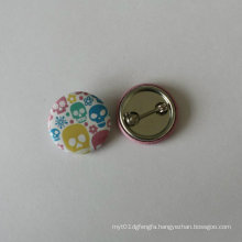 Colorful Tin Button Badge Round Printing Lapel Pin (HY-MKT-0018)