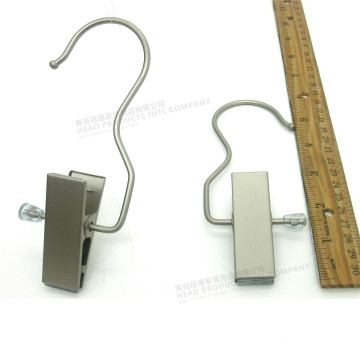 "6"" Large Clips Matt Metal Clothes Hanger"