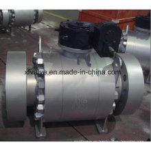 Válvula de bola de extremo de brida montada en muñón de acero forjado