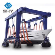 Grue mobile de bateau, machine de manipulation de yacht, grue de levage de bateau