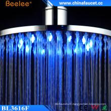 Beelee 12 '' 16 '' Pomme de douche de puissance hydraulique de changement de couleur de LED