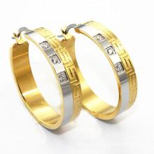 Alibaba nueva llegada de oro hermosos pendientes diseñados