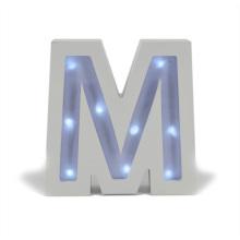 Letra clara de madeira do diodo emissor de luz para o presente de Chiristmas