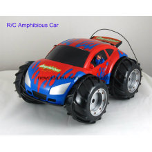 Outdoor anfíbio plástico brinquedo de controle de rádio para crianças