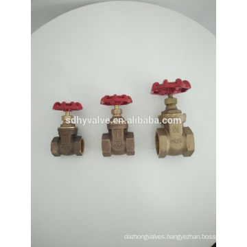 """1""""inch hot sale PN20/PN25 water, gas bronze gate valve with prices"""