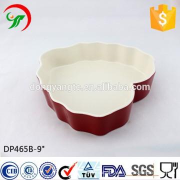 9 Zoll maßgeschneiderte Logo herzförmige Keramikplatte, herzförmige Geschirr