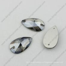 Drop Sliver Shade Crystal Sew em pedras para vestidos