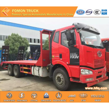 FAW 260hp Euro3 machine equipment transport truck