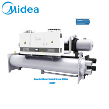 Midea screw chiller 380V-3Ph-50Hz 1370kw accurate cooling capacity control industrial water chiller