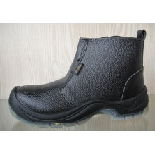 Split Embossed Leather Safety Shoes with Mesh Lining (HQ03012)
