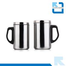 Taza de café de acero inoxidable Taza de agua de taza con tapa