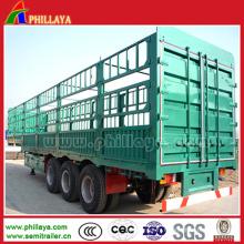 Transport de marchandises en vrac Tri-Axe Gooseneck Cargo Truck Trailer