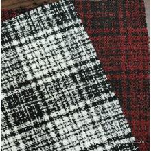 Boucle fashion tartan design fabric