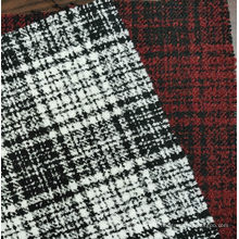 Boucle fashion tartan design fabric