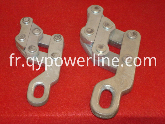Parallel jaw type earth wire grip