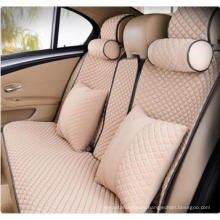 Colorful Car Seat Cover Flat Shape Ice Silk-Beige