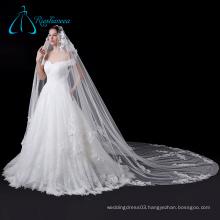 Elegant Lace Soft White Cathedral Bridal Wedding Veil