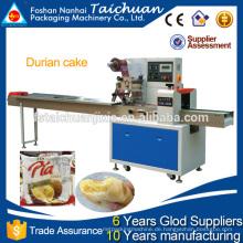 Automatische Flow-Verpackungsmaschine für Durian Kuchen in Lebensmittel-Unternehmen