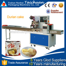 Automatic flow packing machine for durian cake in food company