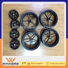 6 '' pequenas rodas de carroça eva e eixos