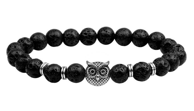 owl bead bracelet