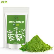 Fabricación de fábrica Muestra gratis Instant Matcha Polvo de té verde Té verde ecológico Polvo de extracto de Stevia / Stevia Matcha