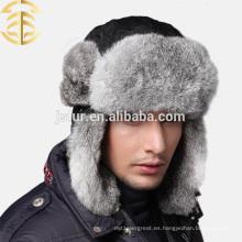 Precio al por mayor de la fábrica guarde el sombrero de piel caliente del conejo de los hombres