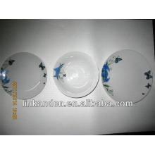 Haonai производство 12шт экспортируемых керамических наборов плиты ужин
