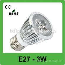 Best selling!! E27 3w high power 330LM/W 85V-265V led spot light