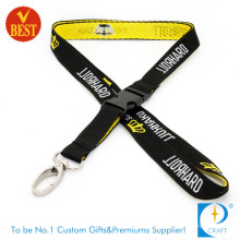 OEM Customized Stain Woven Lanyard with Buckle