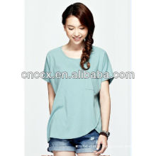 13ST1005 Women fashion unique design cheap t shirt