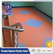 Colorido Kindergarten Litchi patrón vinilo suelo de PVC