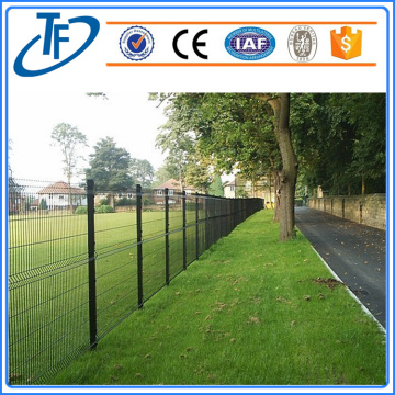 2018 powder coated green welded wire mesh fence