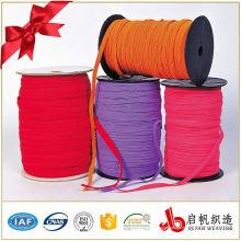 Banda elástica trenzada de poliéster de colores para la ropa