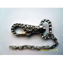 Corrente chave de metal com fecho lagosta
