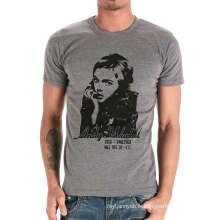 100% coton personnalisé Fashion Girl imprimé col rond hommes T-shirt
