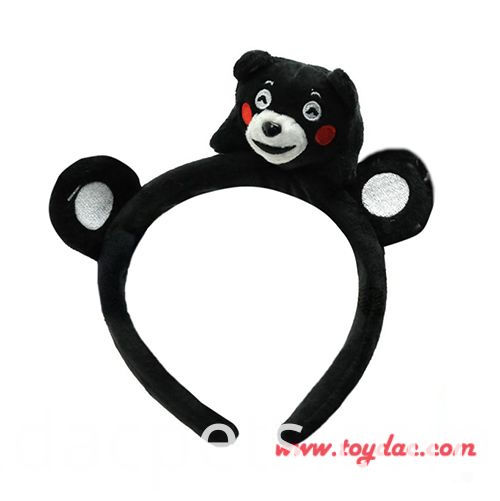plush black bear hairband