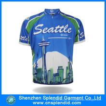 China fabricante Men bicicleta Jersey respirável Ciclismo Jersey