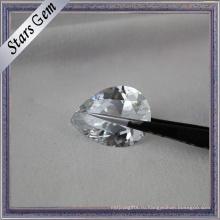 Сияющая Бриллиантовая Огранка Оптовая Продажа Белый Цирконий Драгоценный Камень