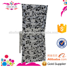 2016 new design flocking pattern chair covers for party wedding