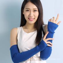 neue Stil benutzerdefinierte bunte dicke Damen lange Wolle Handschuhe