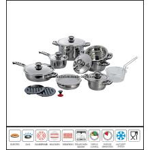 18PCS Stainless Steel Stewpot Set