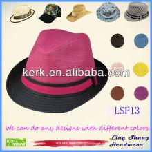 2013 La última graciosa Panamá femenino 100% Sombrero de paja de papel, LSP13