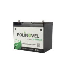 Polinovel Lithium 12v Ion Camper Deep Cycle Rv For Solar Iron 12 Volt Trolling Motor Boat Marine 100ah Lifepo4 Battery