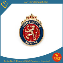 High Quality Custom 3D Baking Varnish Wegpolitie Police Badge with Dragon Logo