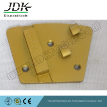 2 Viertel PCD + Diamantsegment Trapezschleifplatte / Schuh
